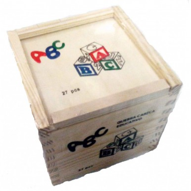 Wooden Learning 27-piece English alphabet picture blocks