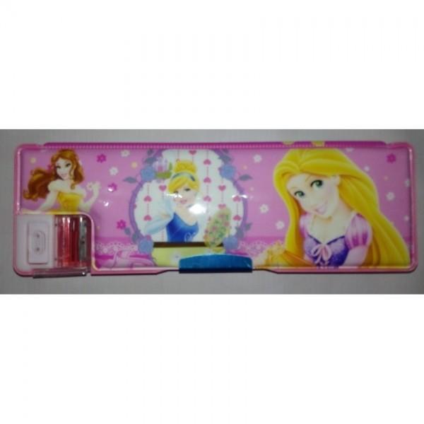 Colourful Button Super Princess Pencil Box for Kids