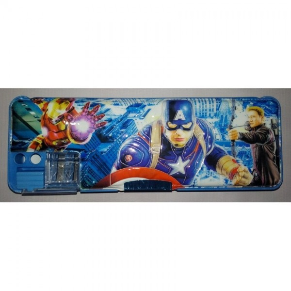 Colourful Button Super Avengers Pencil Box for Kids