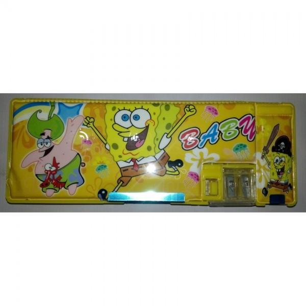 Colourful Button Super Minion Pencil Box for Kids