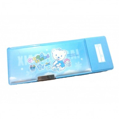 Small Button fancy pencil box for kids