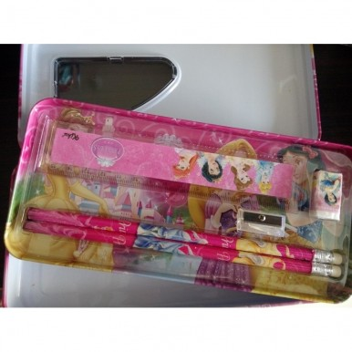 Princess Pencil Box with accessories