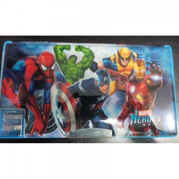 Large Simple Avengers fancy pencil box for kids