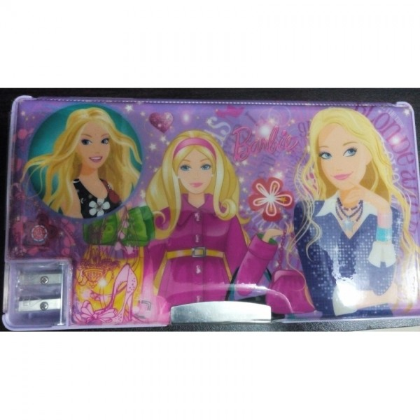 Large Simple Barbie fancy pencil box for kids