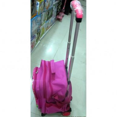 3D-Cartoon Character Trolley School Bag