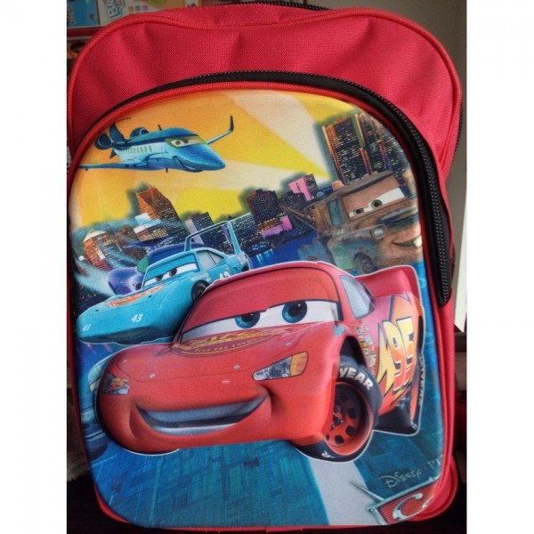 3D-Cartoon Character The Cars School Bag - large size