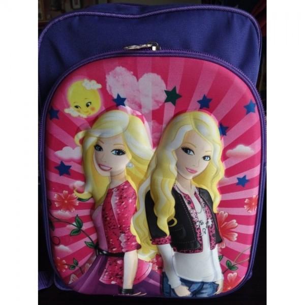 3D-Cartoon Character Anna and Elsa School Bag - large size