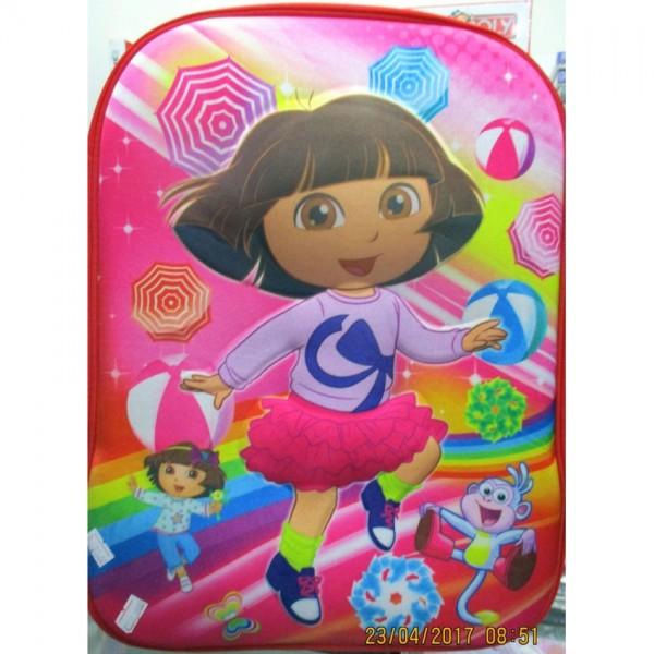 Dora 3D-Cartoon Character School Bag