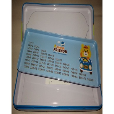 Fancy colourful pencil box with calculator for kids
