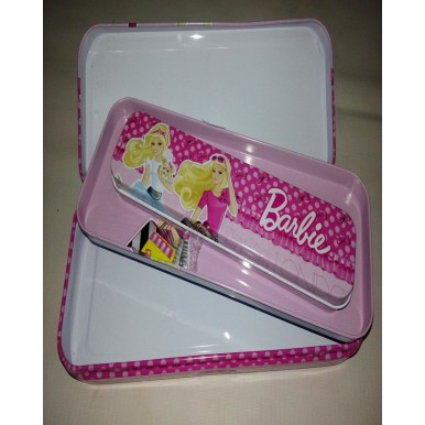 Metal Barbie Cartoon Character Pencil box