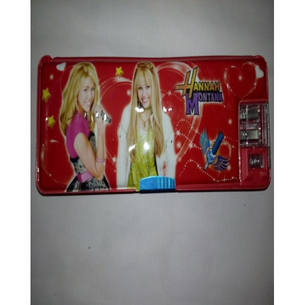 Hannah Montana Small Button Pencil Box with mini lamp