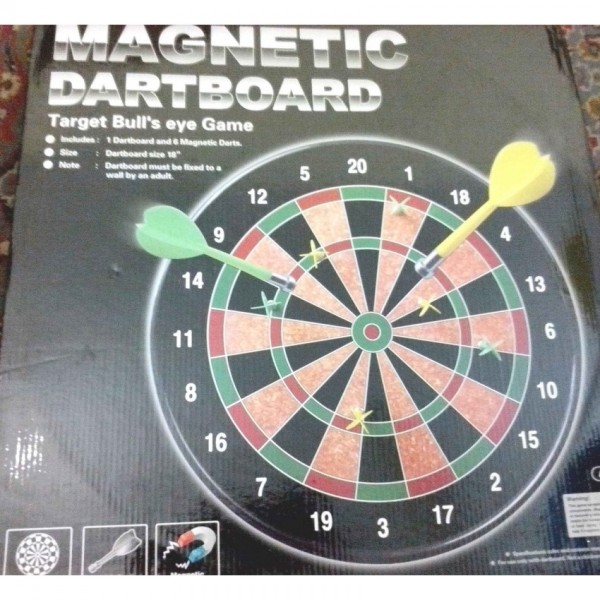 18 inch Hard Board Magnetic Dart Game for Kids