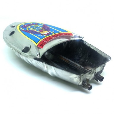 High quality painted Tin Pop-pop Boat