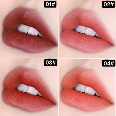 Hey Girl Soft Tube Lipstick Set of 4 Matte Fog Lasting Non-decoloring Mini Sample Waterproof Niche Brand Lipstick for Students