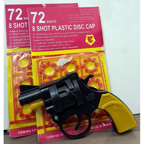 The 72 shots Toy Gun for Kids (2 Packets of Shots)