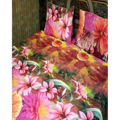 Multicolor Floral Cotton BedSheet with 2 Pillow Covers