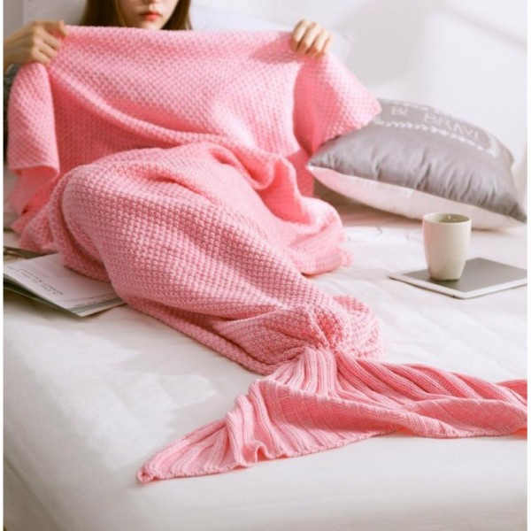 Summer Mermaid Super Soft Blanket - Pink