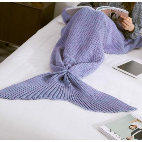 Summer Mermaid Super Soft Blanket - Purple