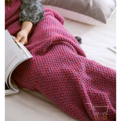 Summer Mermaid Super Soft Blanket - Dark Pink