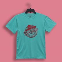 Aqua Green Brooklyn Printed T Shirt For Him