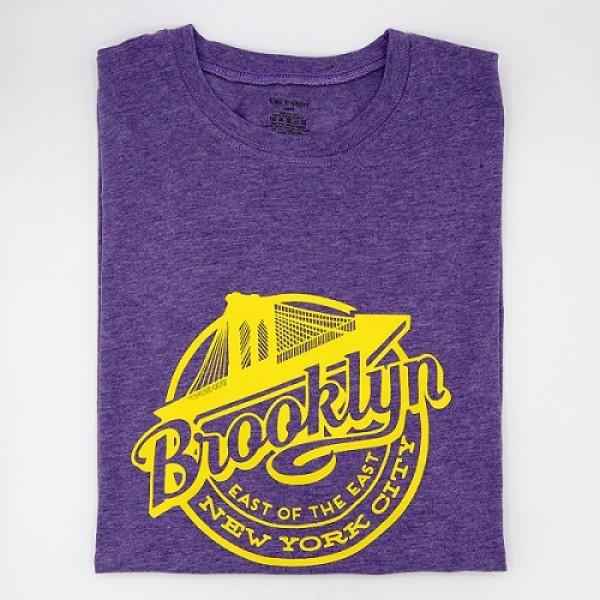 Heather Purple Brooklyn Printed T Shirt For Him