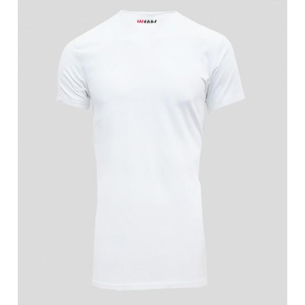 Uniwears Slim Fit White Stretch Cotton T Shirt