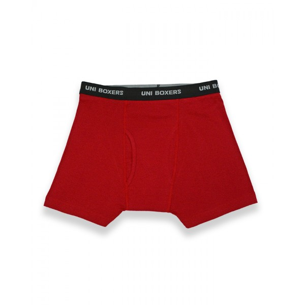 Red Cotton Boxer Brief for Men-MBBUNI005