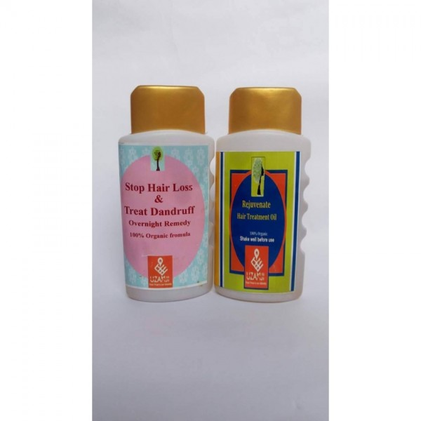 Pack of 2 Rejuvenate hair treatment oil and Anti Dandruff Oil 100 percent organic
