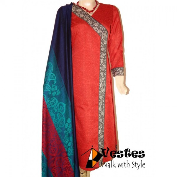 ANGRAKHA IN RED 3 PIECE SUITE-R6548 - FOR HER