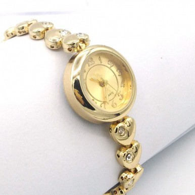 Silver and White Dial Watch For Women