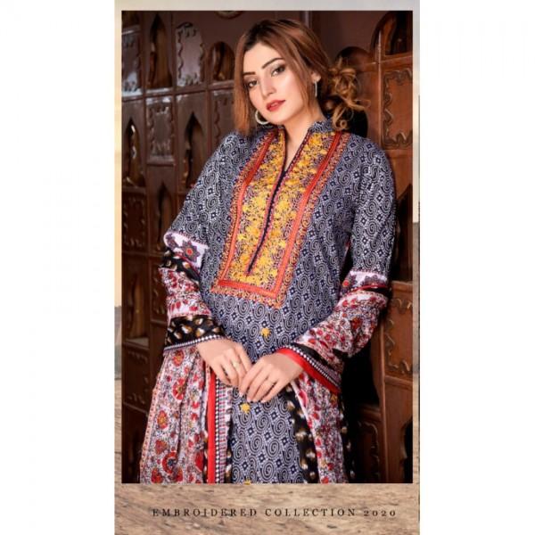Mysoori - KHADDI Embroidered Lawn Dress with Embroidered Lawn Dupatta - 2a