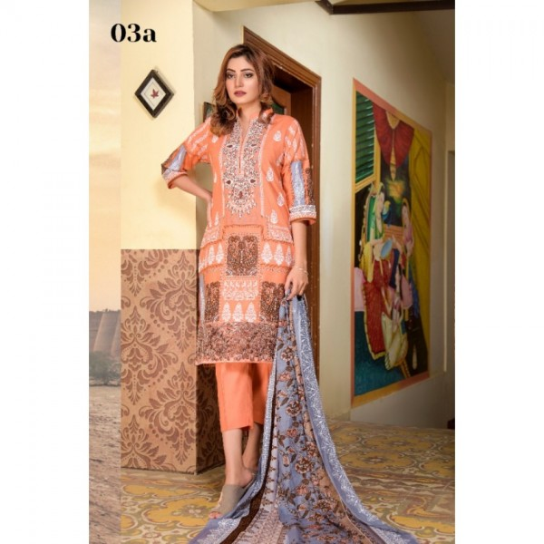 Mysoori - KHADDI Embroidered Lawn Dress with Embroidered Lawn Dupatta - 3a