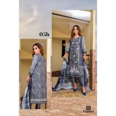 Mysoori - KHADDI Embroidered Lawn Dress with Embroidered Lawn Dupatta - 5b
