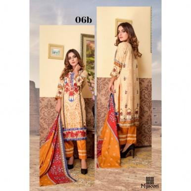 Mysoori - KHADDI Embroidered Lawn Dress with Embroidered Lawn Dupatta - 6b