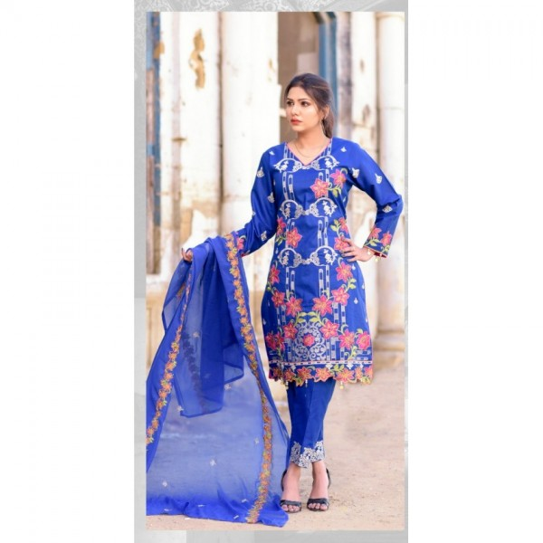 Hoorain Fatima Embroidered Lawn Collection 2020 with Handwork by Mysoori - Design 10