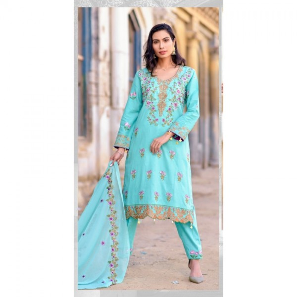 Hoorain Fatima Embroidered Lawn Collection 2020 with Handwork by Mysoori - Design 11
