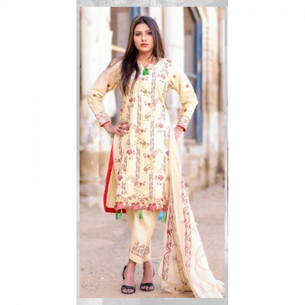 Hoorain Fatima Embroidered Lawn Collection 2020 with Handwork by Mysoori - Design 12