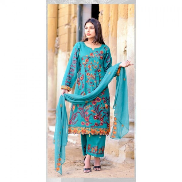 Hoorain Fatima Embroidered Lawn Collection 2020 with Handwork by Mysoori - Design 08