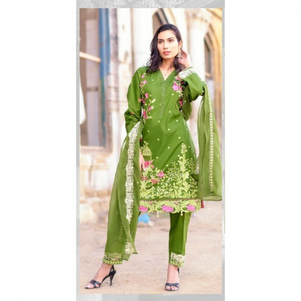 Hoorain Fatima Embroidered Lawn Collection 2020 with Handwork by Mysoori - Design 09