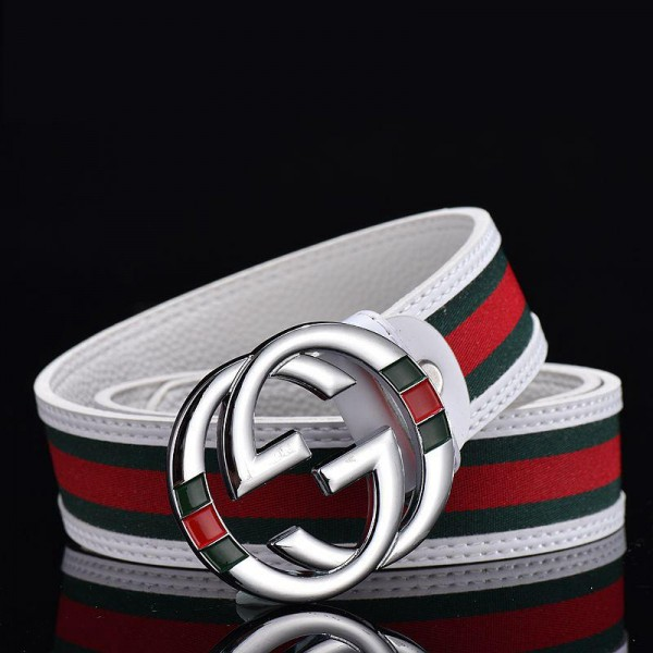 Gucci fashion smooth buckle simple casual belt men and women