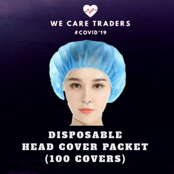 Pack of 100 Disposable Head Cover Packet