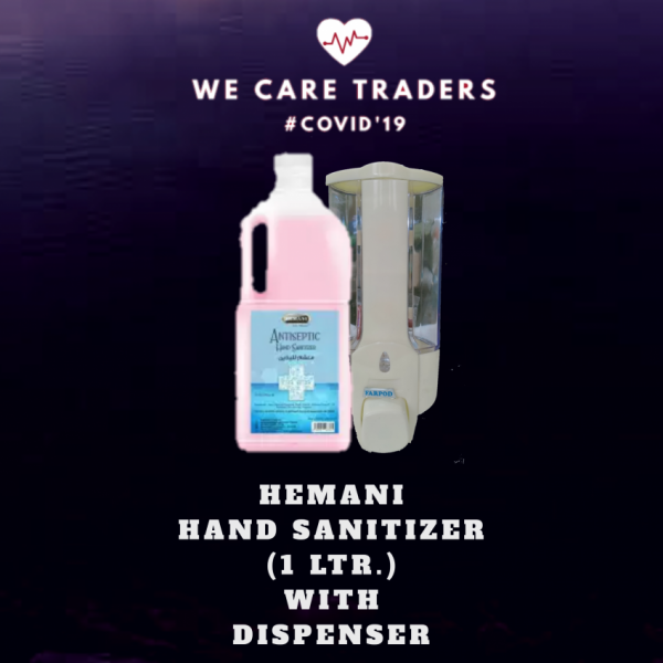 Hemani Hand Sanitizer with 1 Ltr Dispenser