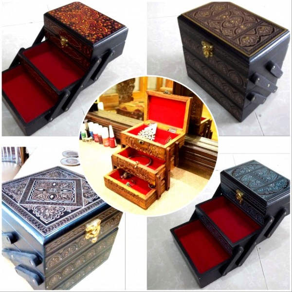 Wooden Jewlery box 3 portion