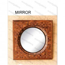 Wooden Craft Mirror FOr Beautify Rooms