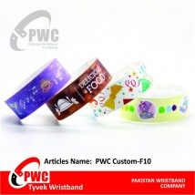 Custom Wristband with Brand Name and Logo Pack of 500 pcs