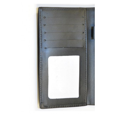 Black Genuine Leather Travel & Documents Holder