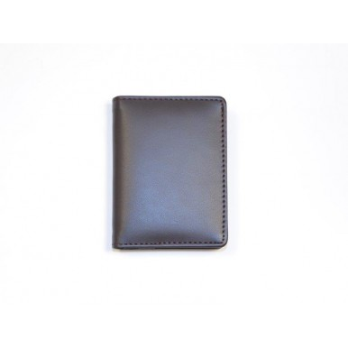 Brown Genuine Leather Wallet and Cardholder Set for Men
