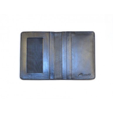 Genuine Leather Black Jacket Wallet and Cardholder Set