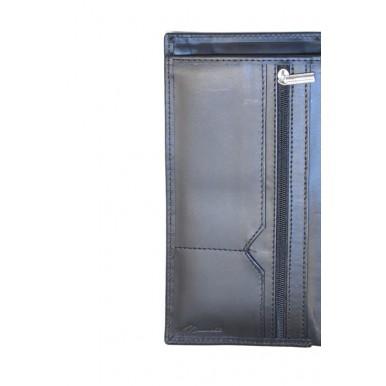 Black Genuine Leather Jacket Wallet