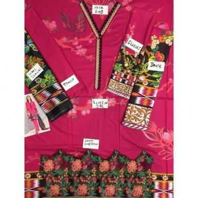 Women Winter Collection Linen 3 Piece Suit
